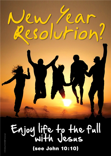 C3534MP - New Year's Resolution : Posters - great designs with a simple message - New Year - Seasonal Material :: Christian Publishing and Outreach (CPO)