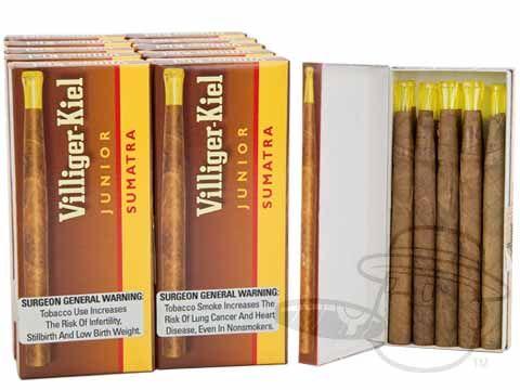 Villiger Kiel Junior Sumatra Packs 4 1 2 X 25 Small Packs 100 Cigarillos Kiel Best Cigar Prices Bars For Home
