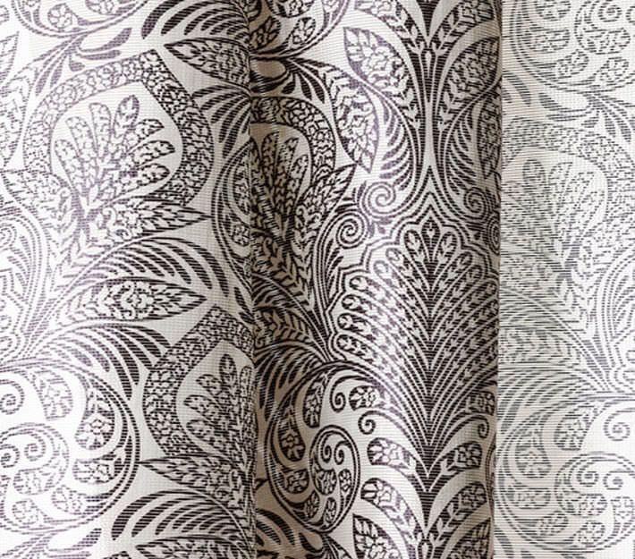 Patterned Sheer Curtain Fabric Polyethersulfone Trevira Cs