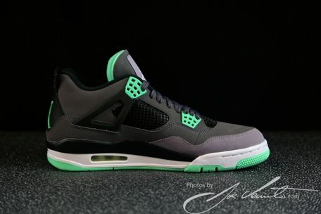 d9c415f2e24c Legit Cheap Air Jordan 4 Green Glow 308497 033 On sale ...