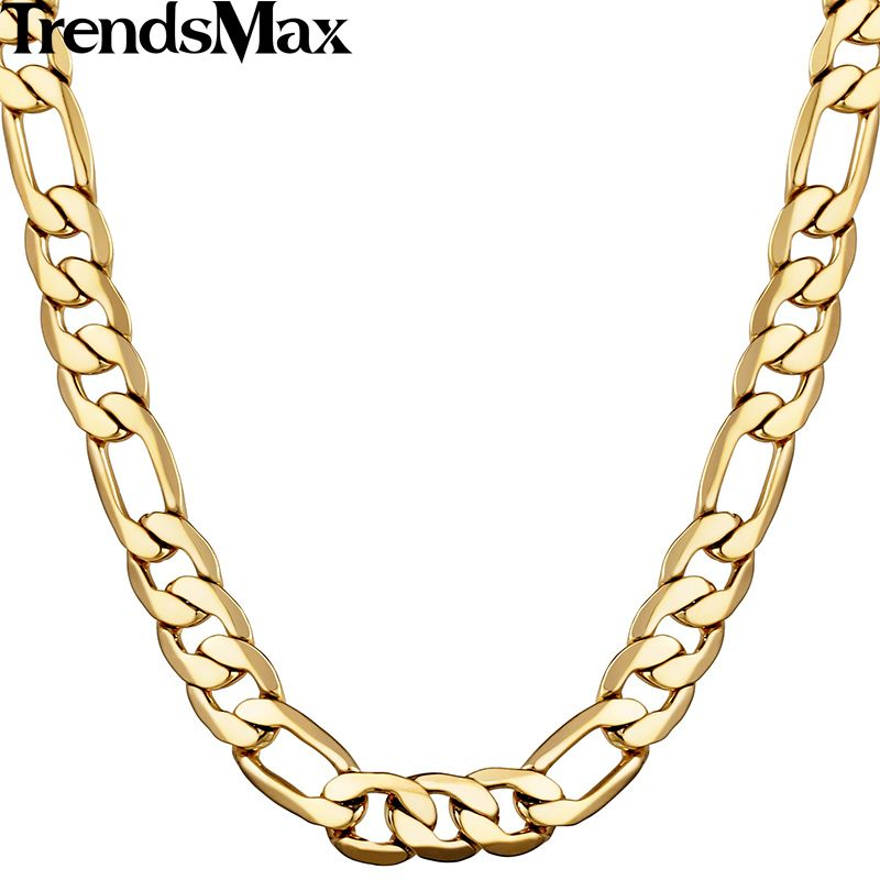 Trendsmax 5 6 9 10mm breite figaro gliederkette gold gefüllt