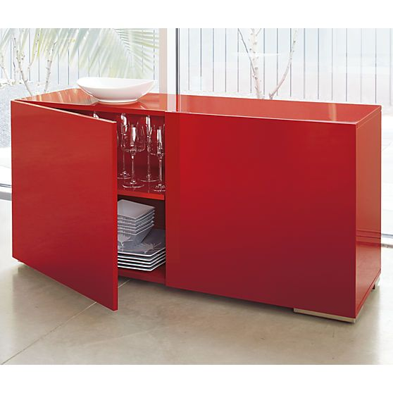 Beau Fuel Red Credenza In Dining Furniture   CB2