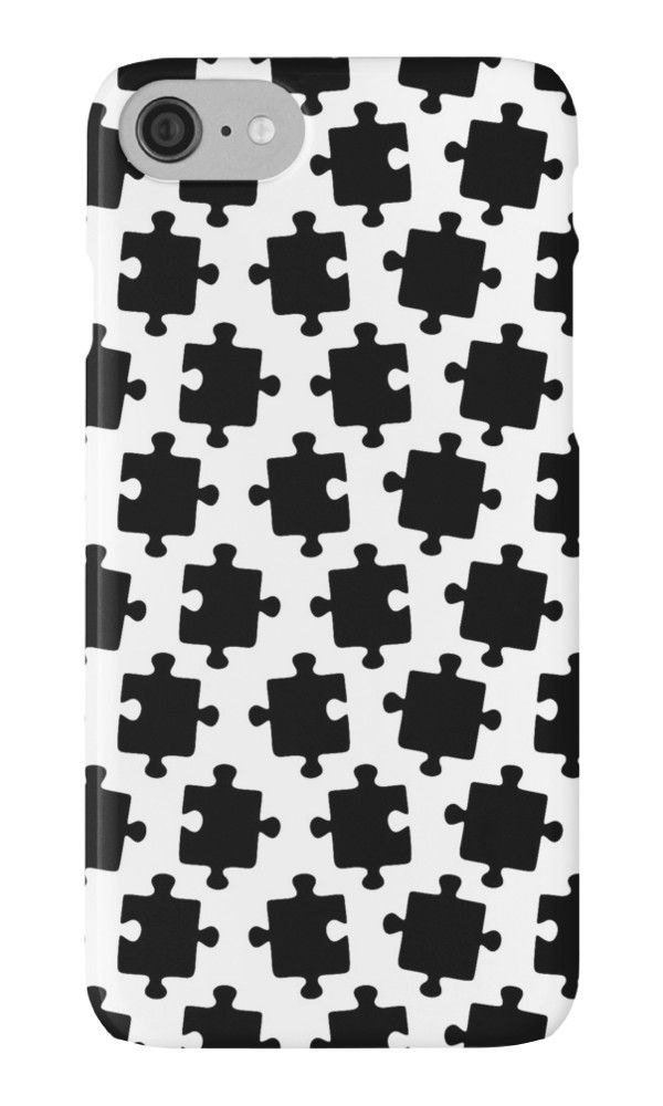 Puzzled Pattern - Classic Black & White Puzzles by XOOXOO  iPhone Cases & Skins  PHONE CASE FOR IPHONE 4/4S/5/5C/5S/6/6 PLUS/ 7/7 PLUS