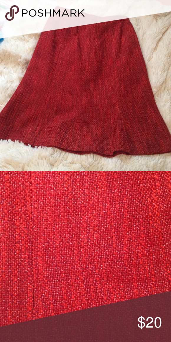 Kasper skirt Burnt orange/red Kasper skirt. Flares out towards end. Used but still in good condition. Kasper Skirts Circle & Skater