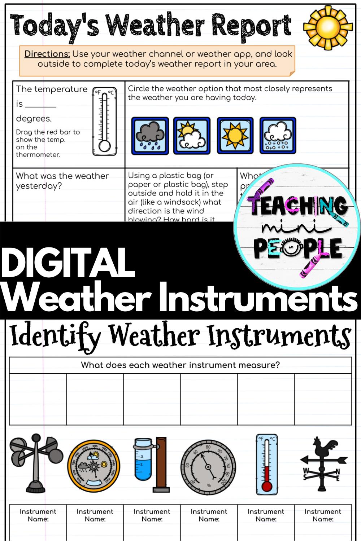 Weather Instruments Digital Notebook Distance Learning Google Slides Distance Learning Weather Instruments Digital Notebooks [ 1500 x 1000 Pixel ]