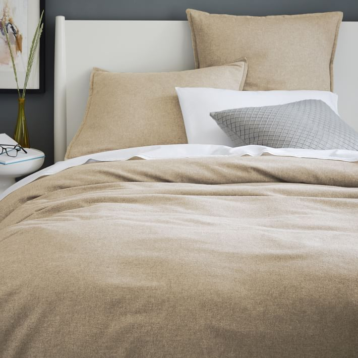 Flannel Duvet Cover, Twin, Oatmeal