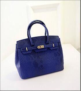 Famous Branded Luxury Rivet Serpentine Leather Tote Hand Bag Designer Handbags High Quality Women Shoulder Bags Sac A Main Femme