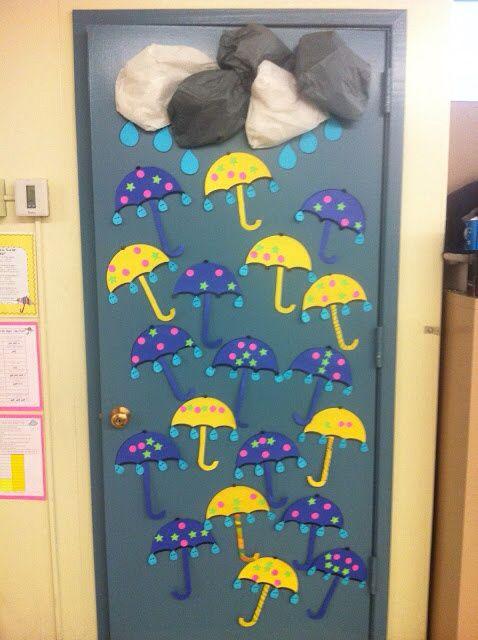 Puerta invierno decoraci n aula pinterest invierno - Decoracion puerta otono ...