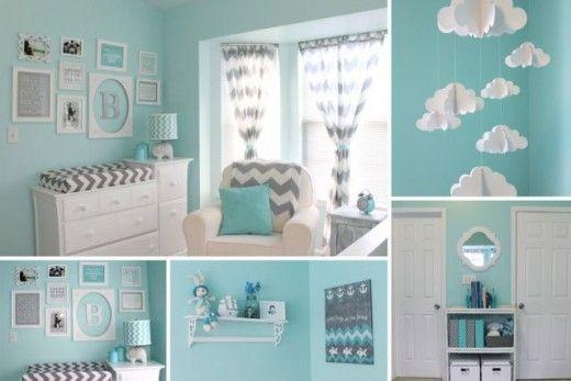 déco chambre bébé gris et bleu Déco chambre Pinterest