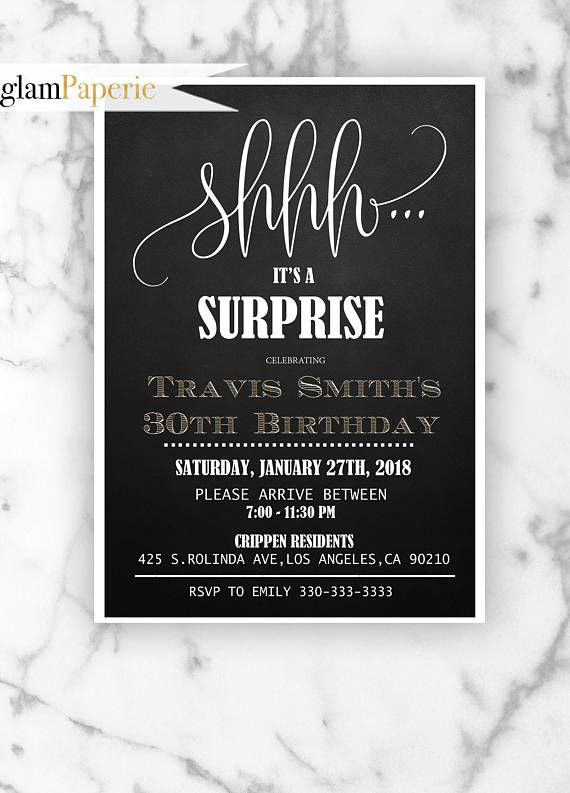 Surprise 30th Birthday Invitation With Modern Calligraphy Suitable For Any Age Surpriseparty Surpriseforman