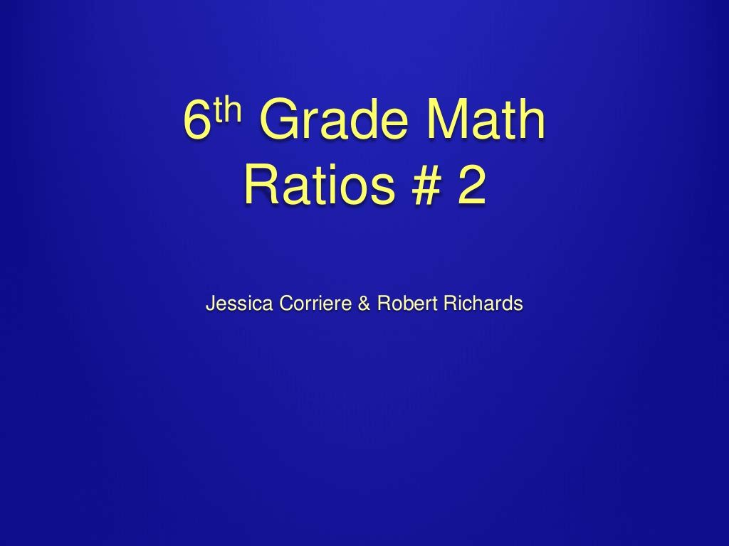 Ratios And Proportional Relationships Slideshow About