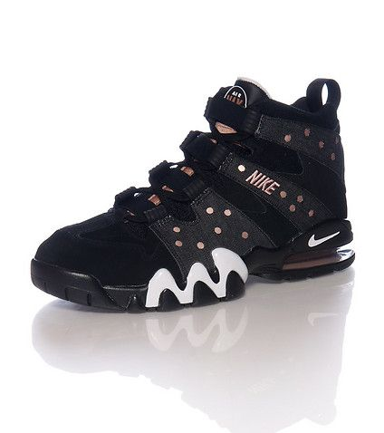 NIKE Charles Barkley stlye Perforated toebox and side Lace and elastic  closure Air bubble