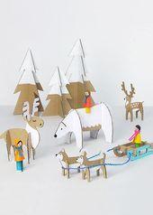 Cardboard Christmas Decorations 6 #christmas #homedecor #christmasgift #christma...  - Paperworld -   #cardboard #Christma #Christmas #christmasgift #Décorations #homedecor #Paperworld