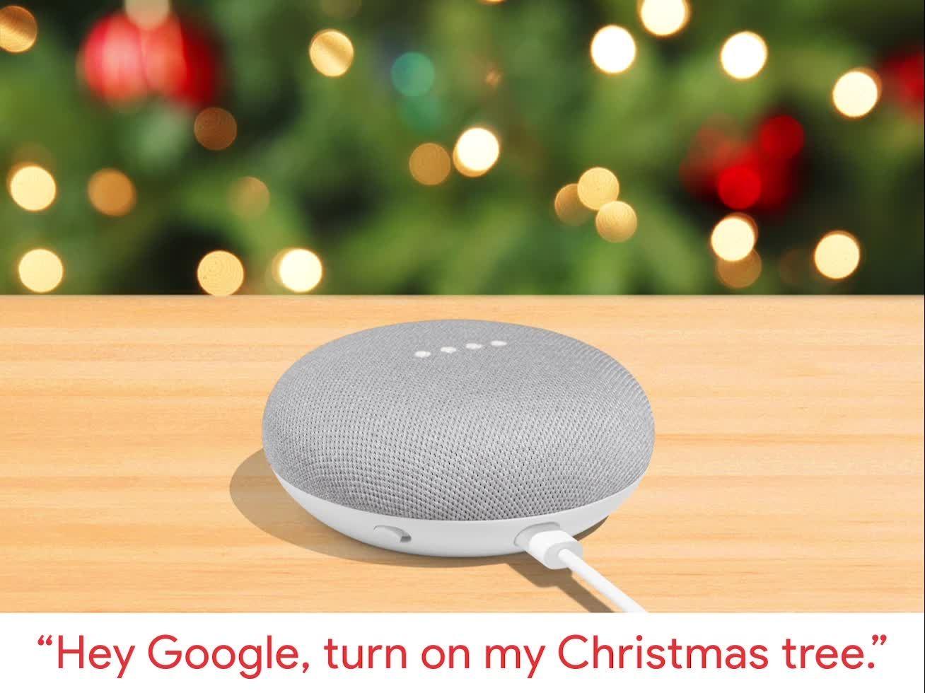 Hey Google, turn on my Christmas tree