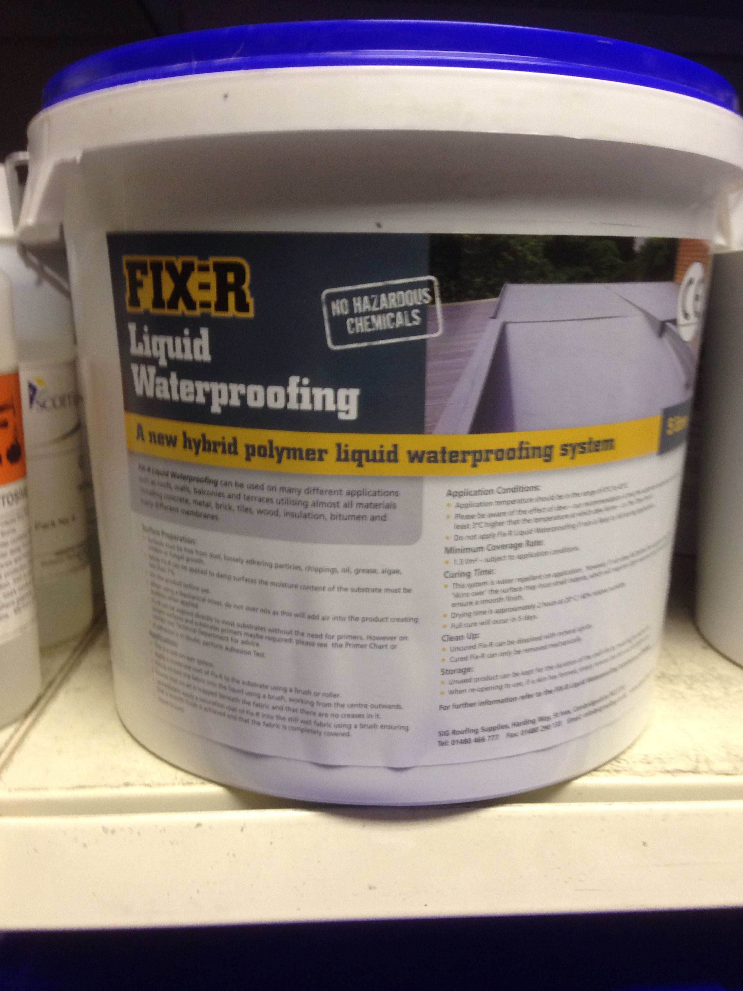 Cold Applied Liquid Waterproofing For Flat Roofs Fix R Liquid Waterproofing Available At All Sig Roofing Rooflin Liquid Waterproofing Roof Repair Flat Roof