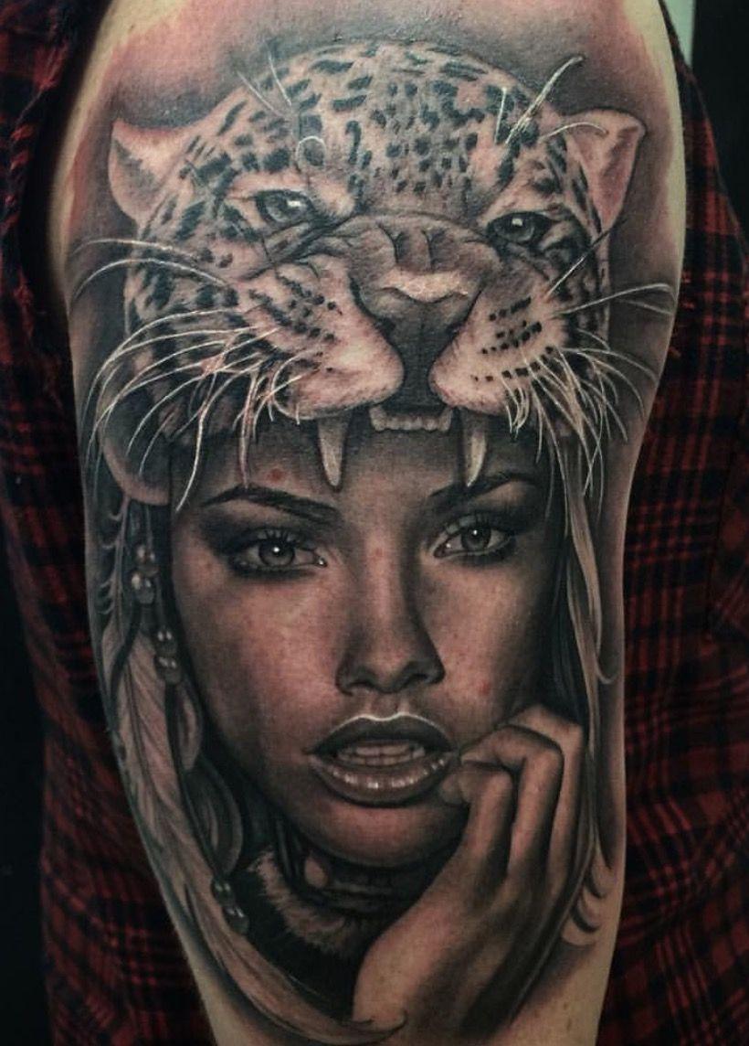 Tattoo   Tattoo for Men   Valkerie tattoo, Jaguar tattoo ...