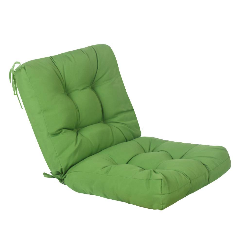 Qilloway Outdoor Seat Back Chair Cushion Tufted Pillow Spring Summer Seasonal Replacement Cushions Green Patio Chair Cushions Chair Cushions Patio Chairs