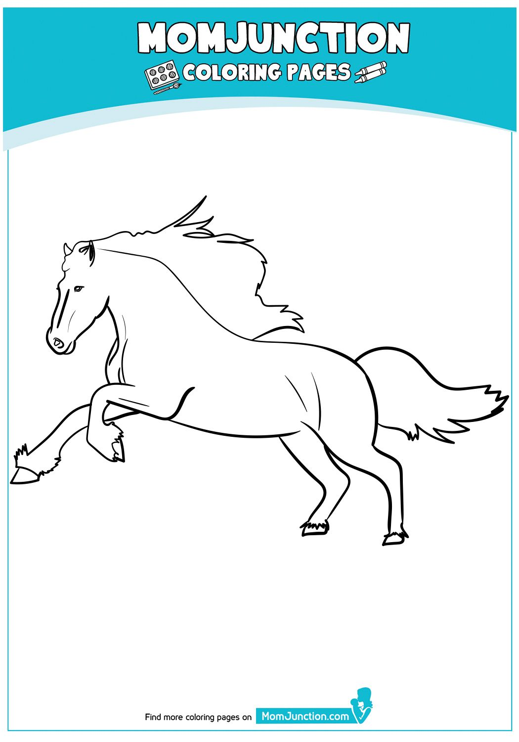 Black Horse Horse Coloring Pages Coloring Pages Horse Coloring [ 1500 x 1050 Pixel ]