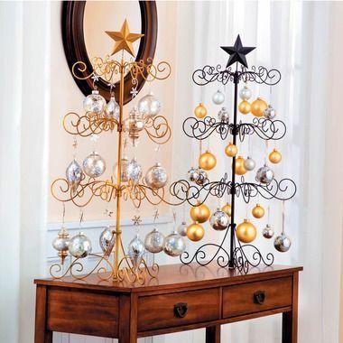 Metal Ornament Tree 36 Skymall Metal Ornament Tree Metal Christmas Tree Christmas Ornaments
