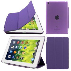 iPad Air Case, iPad Air Cover, DEENOR Colour Series Smart Cover Transparent  Back Cover