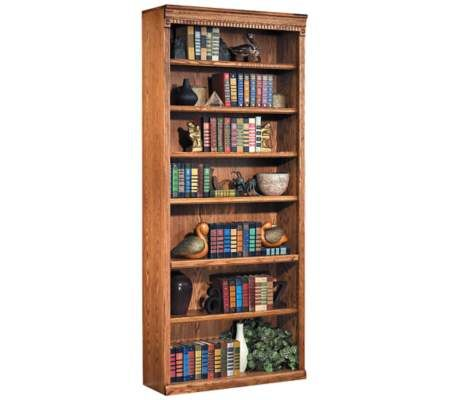 Kathy Ireland Home By Martin Furniture Huntington Oxford 7 Shelf Wood Bookcase In Wheat Lowest Price Online On All