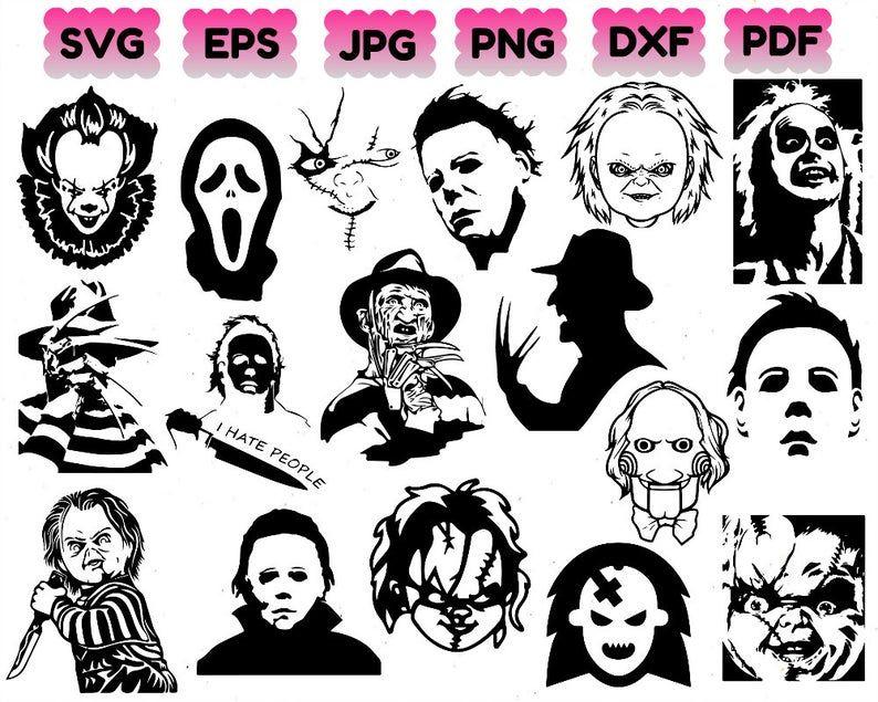 Horror Movie Villain Svg Halloween Svg Chucky Svg Freddy