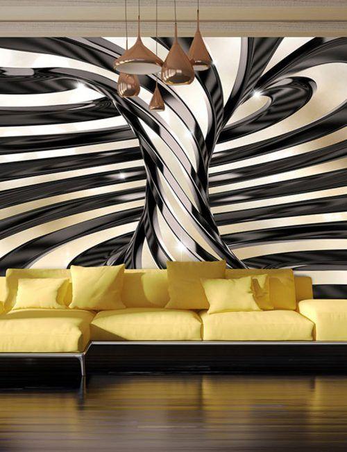 La carta da parati ha inoltre il grande pregio di rifinire e vestire le pareti di casa regalando una sensazione di grande intimità. Carta Da Parati Vortice Sabbia E Nero Carta Da Parati Fotomurale 3d Fantasy 3d Wallpaper Mural Mural Wallpaper Wall Paint Designs