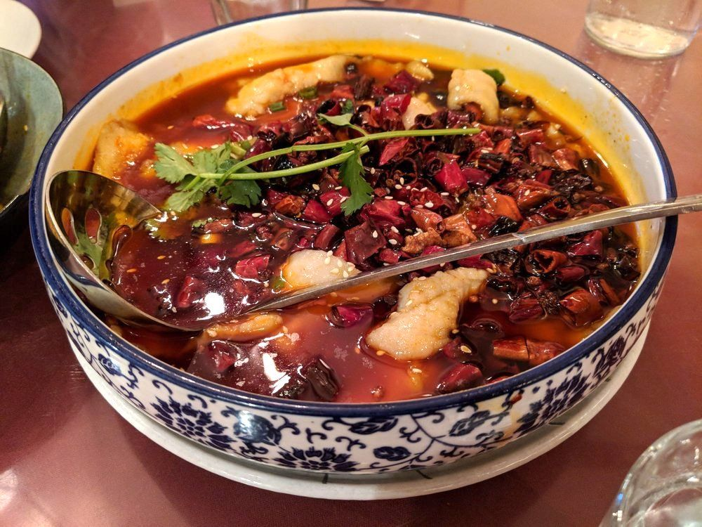 Take On The Spicy Fish With Flaming Chili Oil Cuisine Chinese Cuisine Chinese Food San Francisco