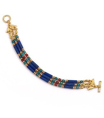 Photo of Egyptian Lapis and Turquoise Bracelet – Ancient Egyptian Style Jewelry