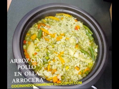 Receta Arroz Con Pollo En La Arrocera Super Practica Recipes Food Rice