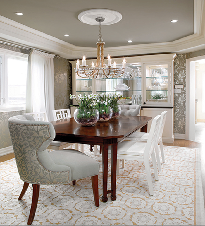 Candice Olson Designed Room Ceiling To Define Dining Room