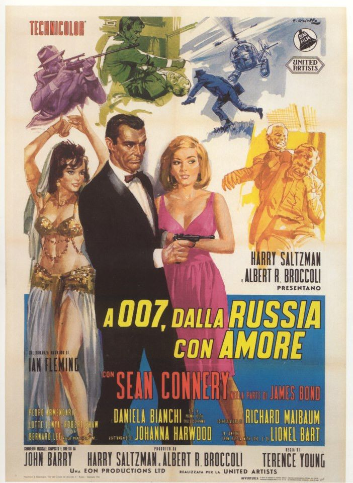 James Bond 007 From Russia With Love Poster Tin Sign James