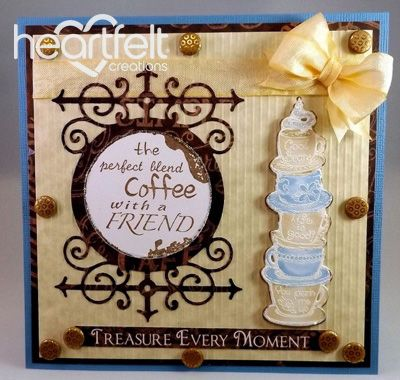 Heartfelt Creations | Cream With Coffee Cups Friendship
