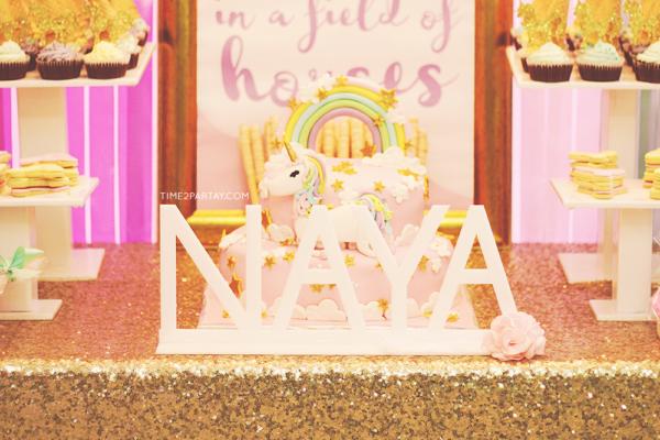 GlamorousUnicornBabyShowerLetters  Baby Shower Chic Theme