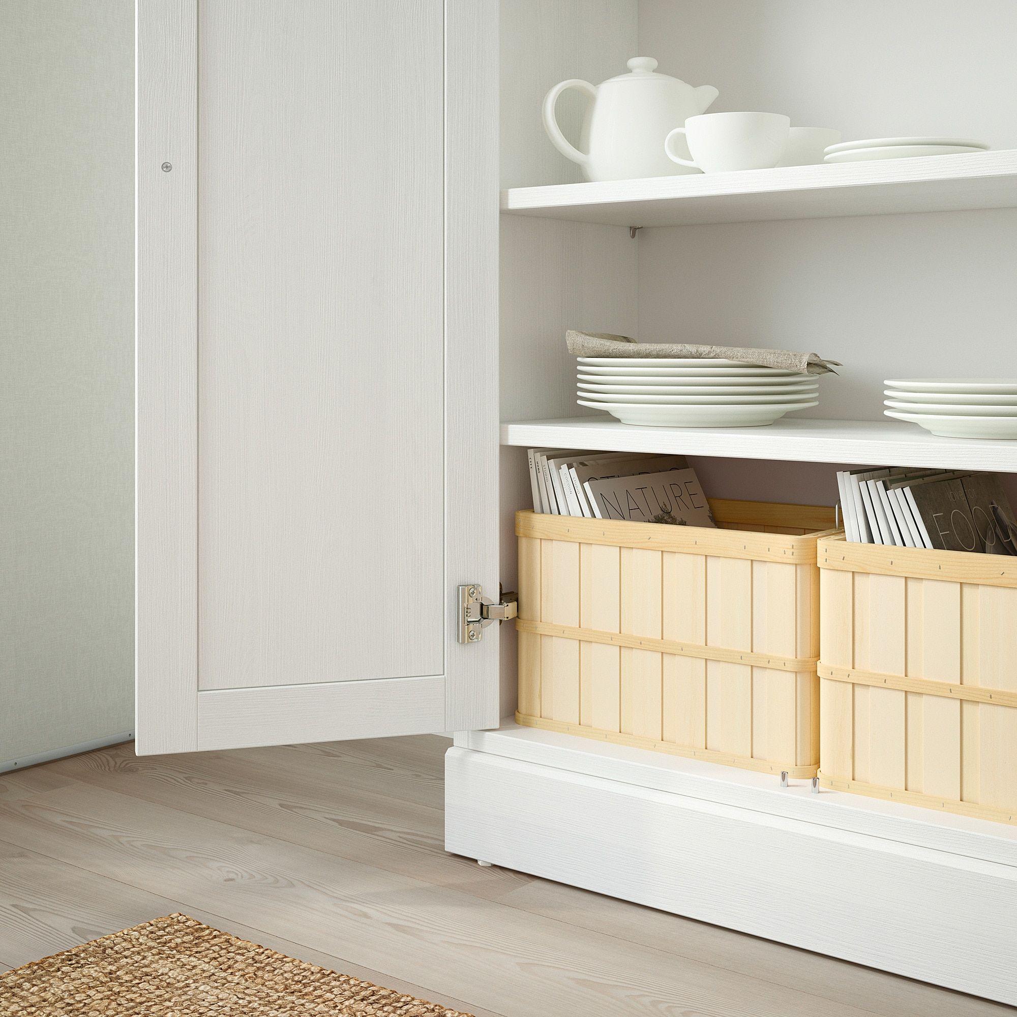 ikea  havsta cabinet with base white  ikea living room