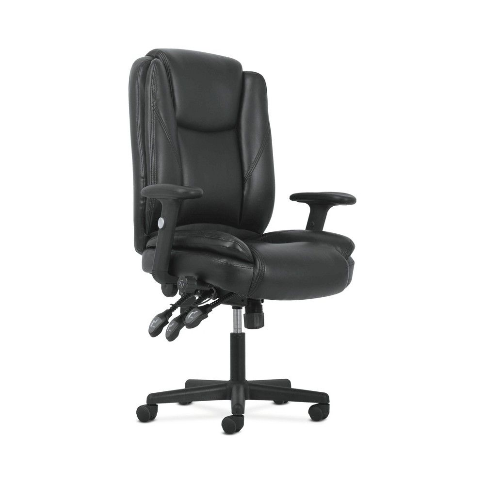 Sadie High Back Ergonomic Swivel Leather Office Computer Chair With Lumbar Support Black Hon In 2019 Chair Executive Chair Executive Office Chairs
