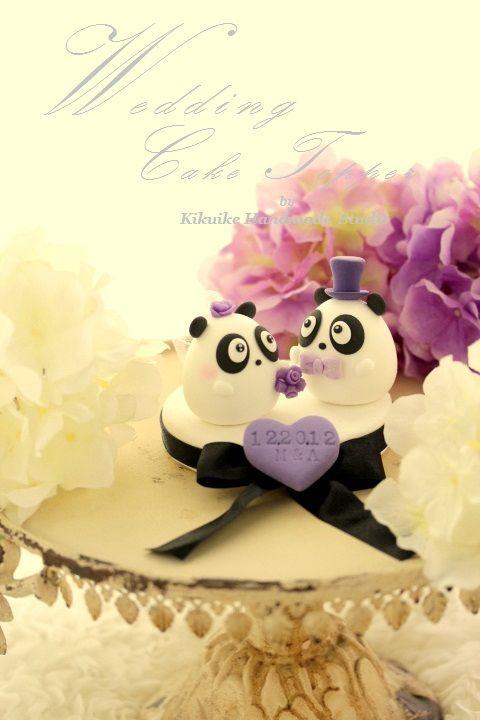 LOVE ANGELS Panda Wedding Cake Topper   Cake decor   Pinterest ...