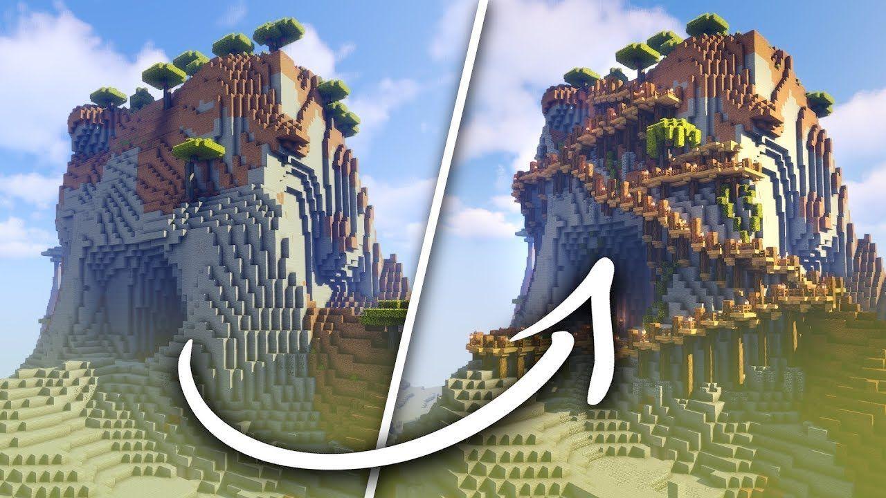 Transformer Une Montagne Minecraft En Base   -