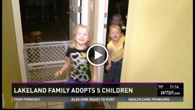 Lakeland couple, Alan and Christy Naumowicz, adopts family of 5 siblings