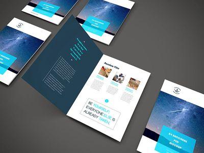 Freebie - A4 Brochure PSD Mockup Mock up and Brochures