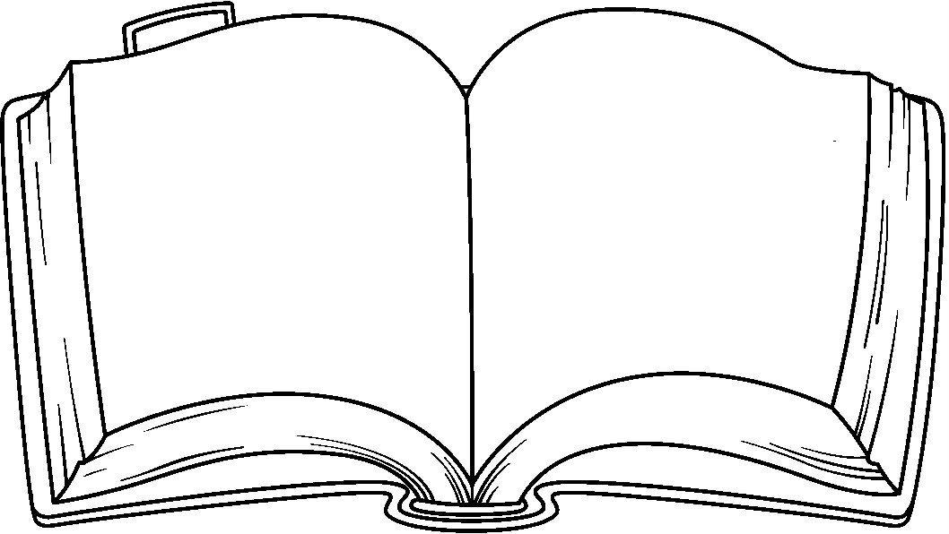 Dibujo para colorear de un libro | School | Pinterest | Book clip