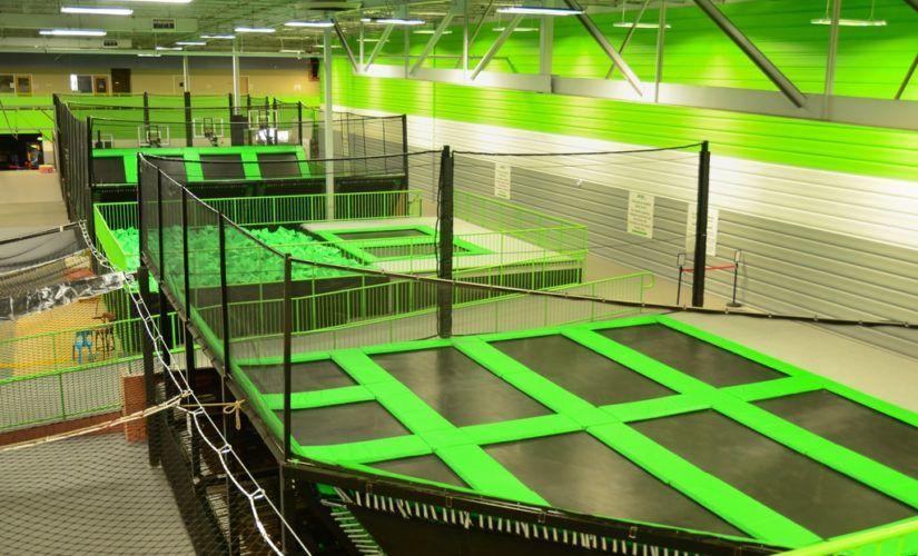 Cincinnati indoor trampoline park zipline park indoor