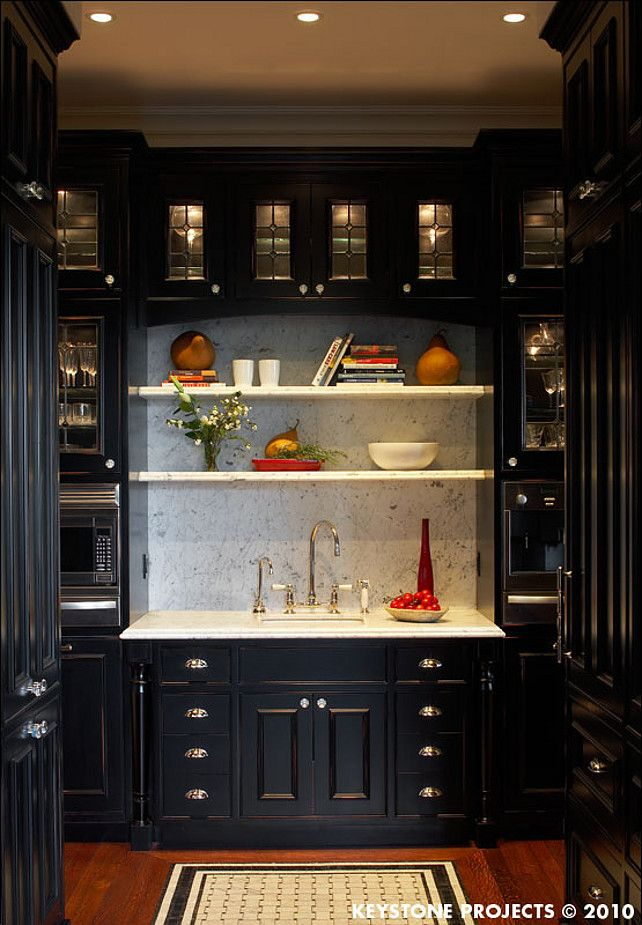 Butlers Pantry Black cabinets  PANTRY FOR THE BUTLER OR
