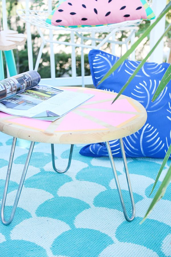 DIY Outdoor Side Table | Hello Lidy for Curbly