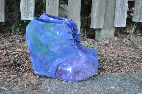 galaxy shoes on etsy