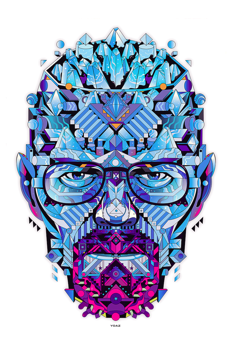 The Geometric Illustrations Of Yo Az In 2021 Breaking Bad Art Illustration Breaking Bad