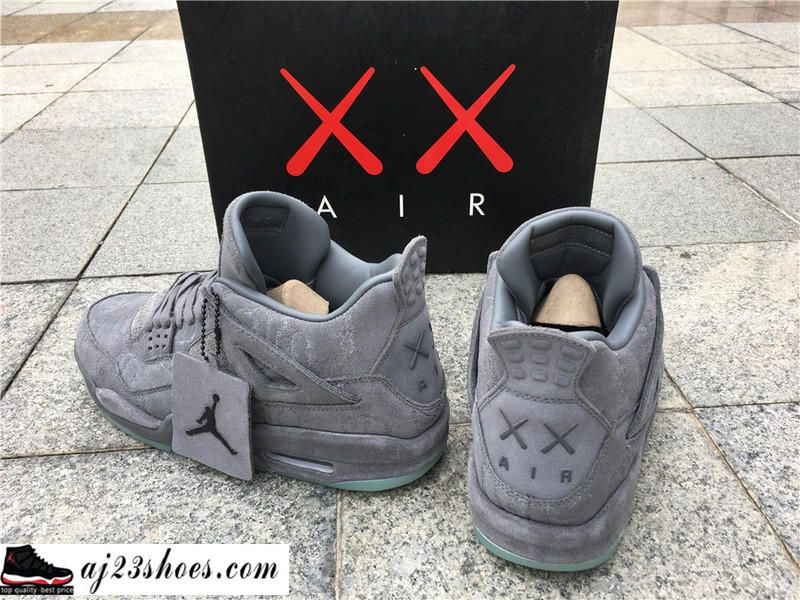 "b76996c717ed86 ATHENTIC KAWS X Air Jordan 4 ""Cool Grey"" from aj23shoes.com Kik ..."