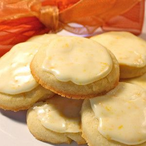Orange Butter Cookies with Grand Marnier Glaze