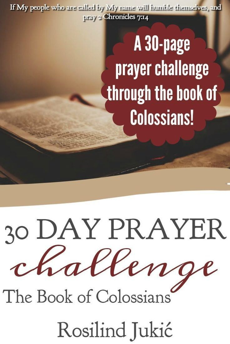 Workbooks prayer workbook : 30 Day Prayer Challenge for Colossians | 30th, Books and Bible