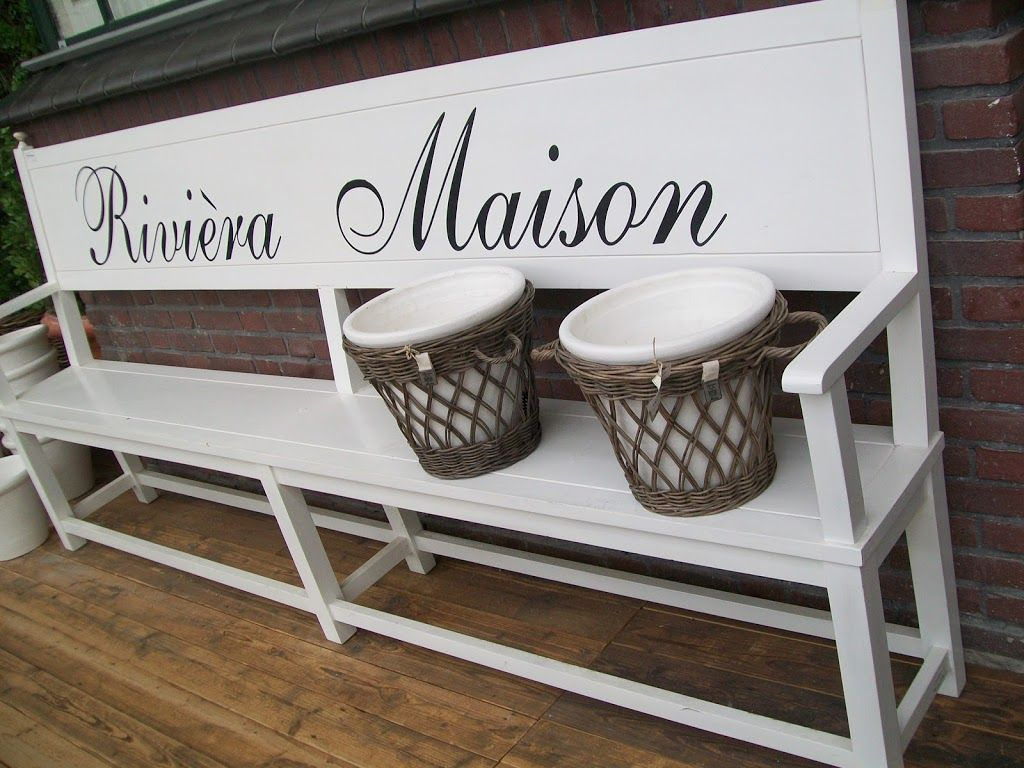 Riviera Maison Leren Bank.Rm Bench Riviera Maison Bank Home Riviera Maison Tuin